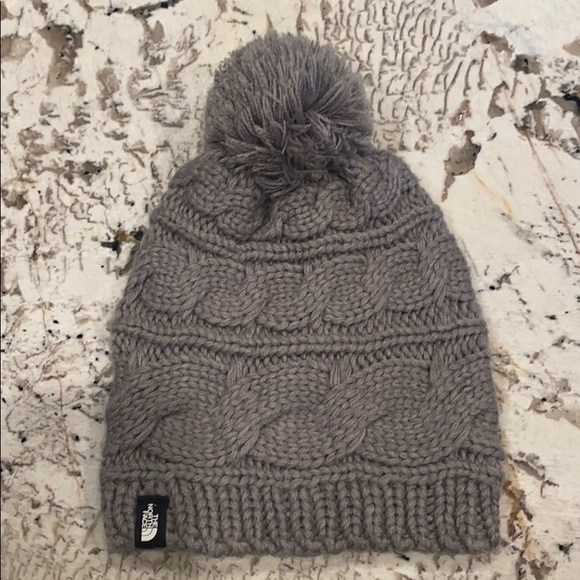 North Face beanie with pom